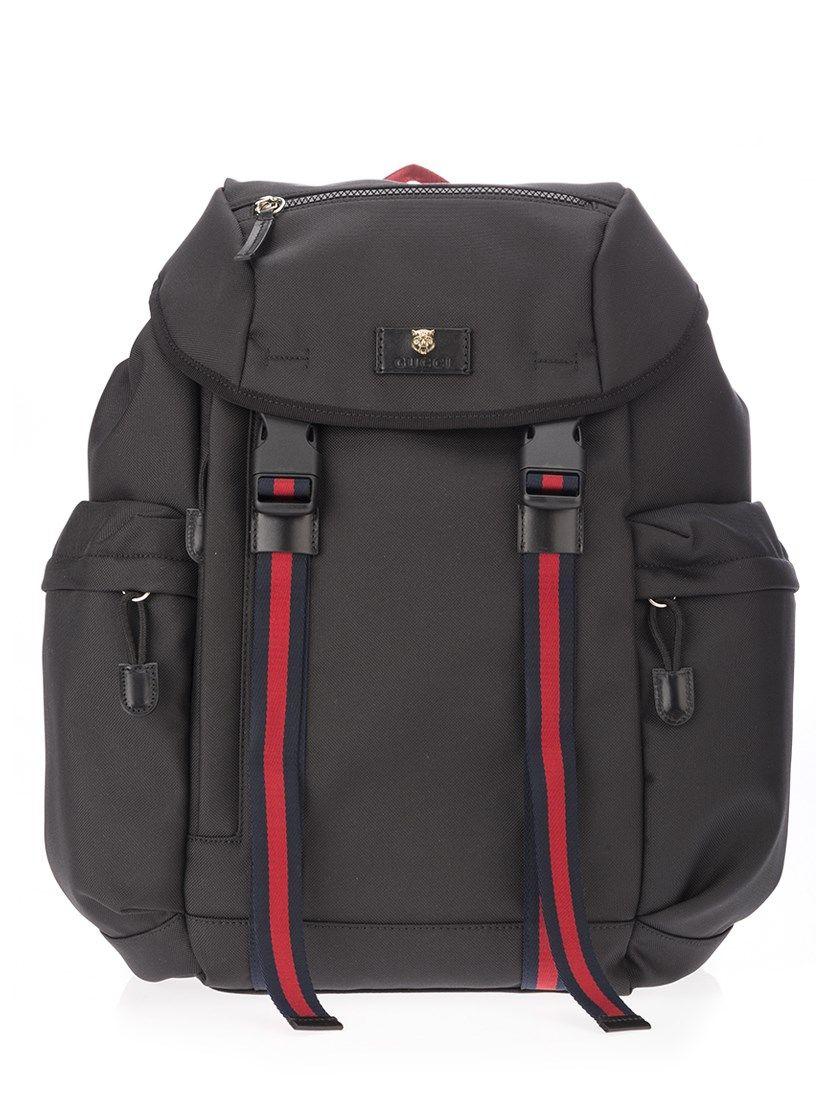 17a87cb766f1 GUCCI Black Technical Fabric Backpack. #gucci #bags #nylon #backpacks #