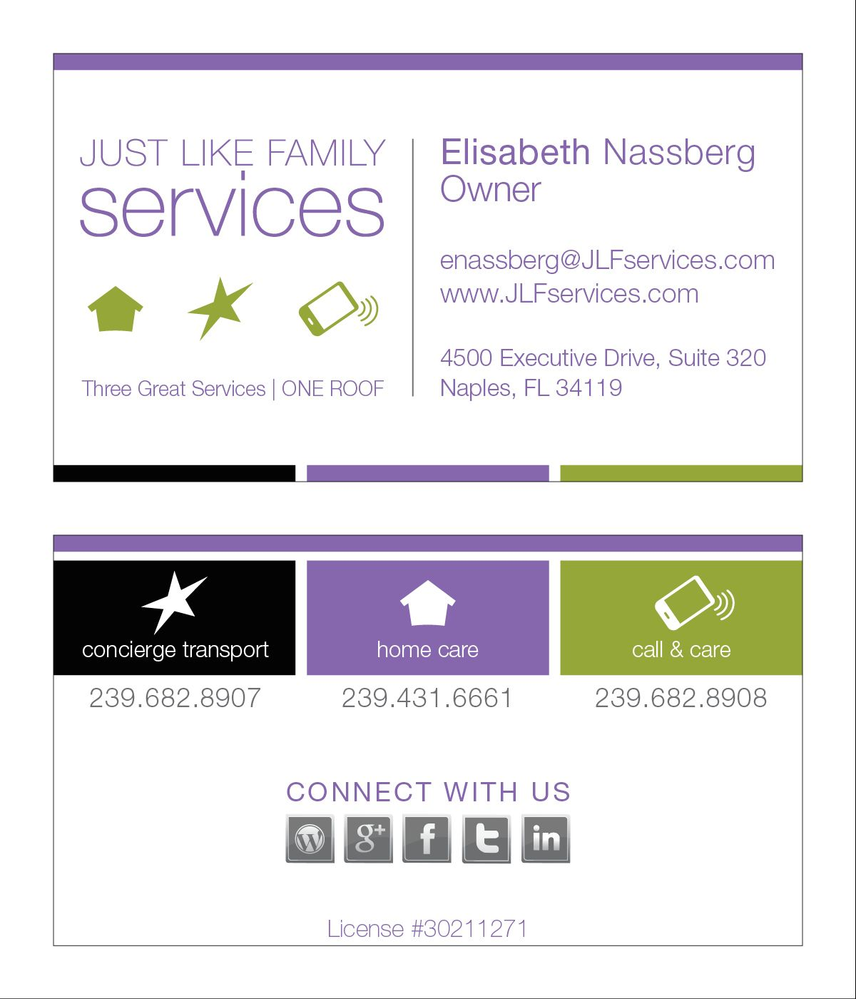 Just Like Family Business Card #MARKITgroup #GraphicDesign | MIG ...