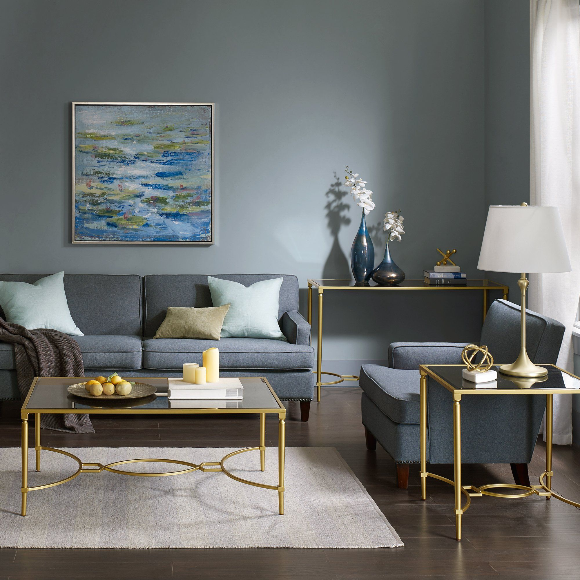 Turner Coffee Table Gold Living Room Teal Living Room Decor Teal Living Rooms #teal #and #gold #living #room #decor
