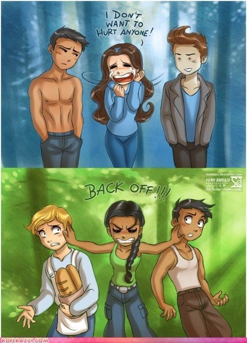 Twilight vs The Hunger Games. Too funny!