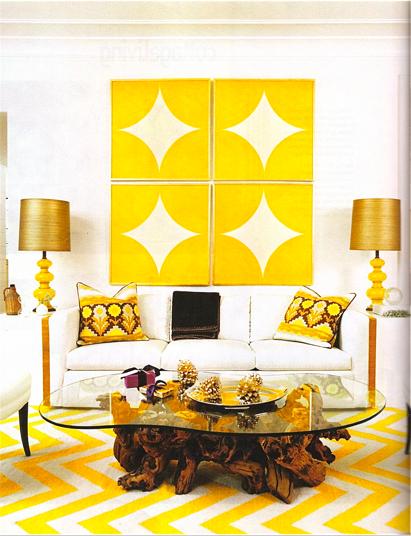 yellow yellow yellow yellow - wall art zig zag pattern carpet ...