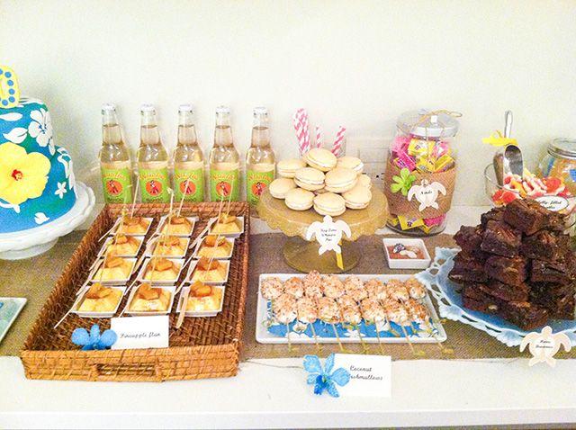 Hawaiian Themed Weddings Hawaiian Themed Dessert Table
