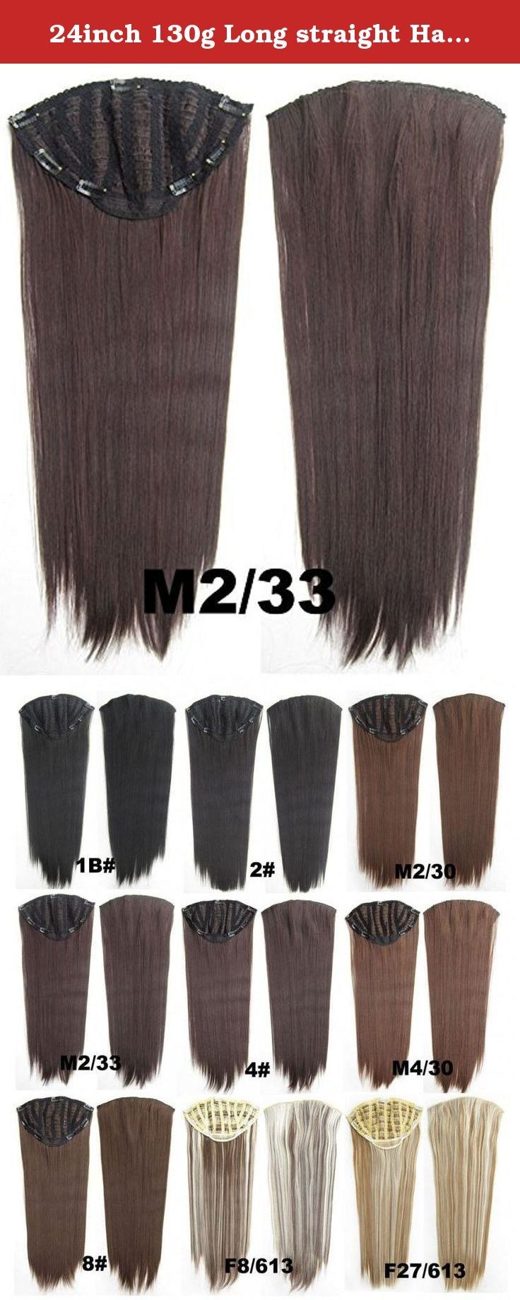 24inch 130g Long Straight Hair Extension Clip In Hair Extensions 7