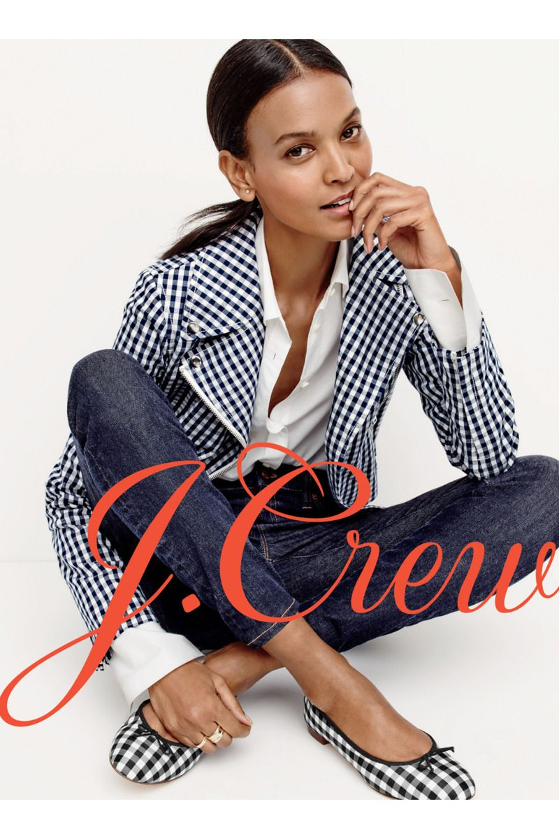 J.Crew Spring 2016 collection featuring Liya Kebede, Carolyn Murphy, and a whole lot of gingham.