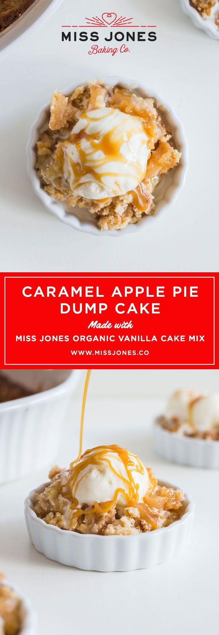 Caramel apple pie dump cake recipe caramel apples