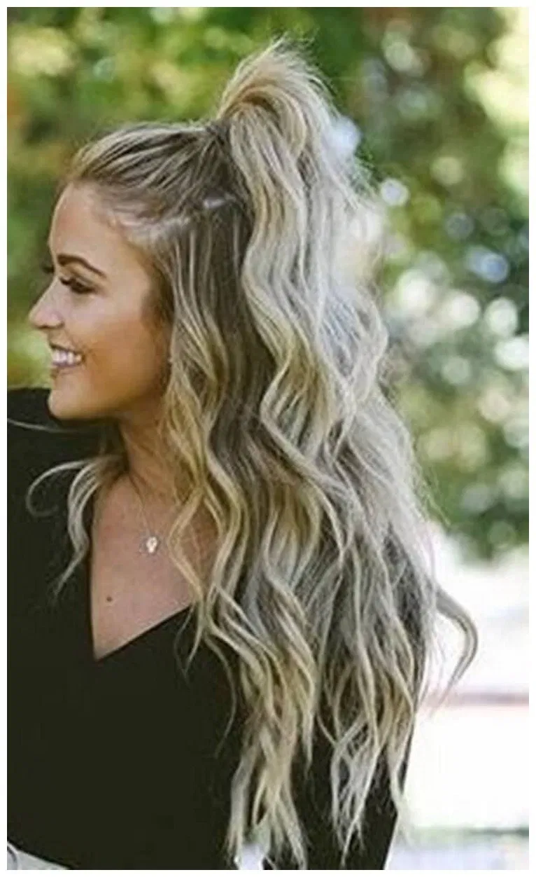 50 Cute Easy Hairstyles For Long Hair In 2019 Educabit Cute Hairstyles For Teens Country Hairstyles Trendy Hairstyles