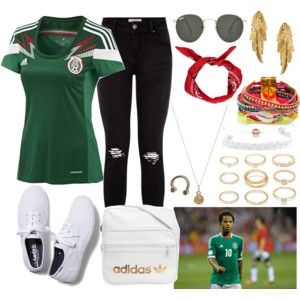 a97ff4300 Mexico Soccer Game Outfit | mexico game | Soccer game outfits ...