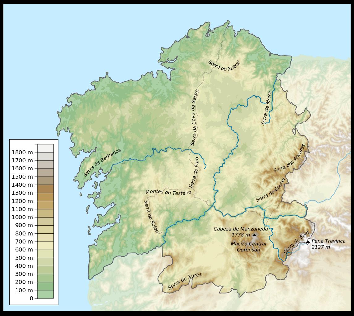 Mapa FISICO GALICIA - Busca De Google