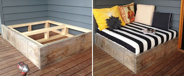 diy daybed tutorial - decoist | diy daybed, daybed and outdoor lounge, Garten ideen