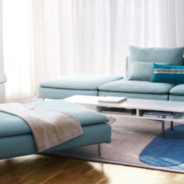 Photo tendance de canapé bleu clair convertible → touslescanapes ...