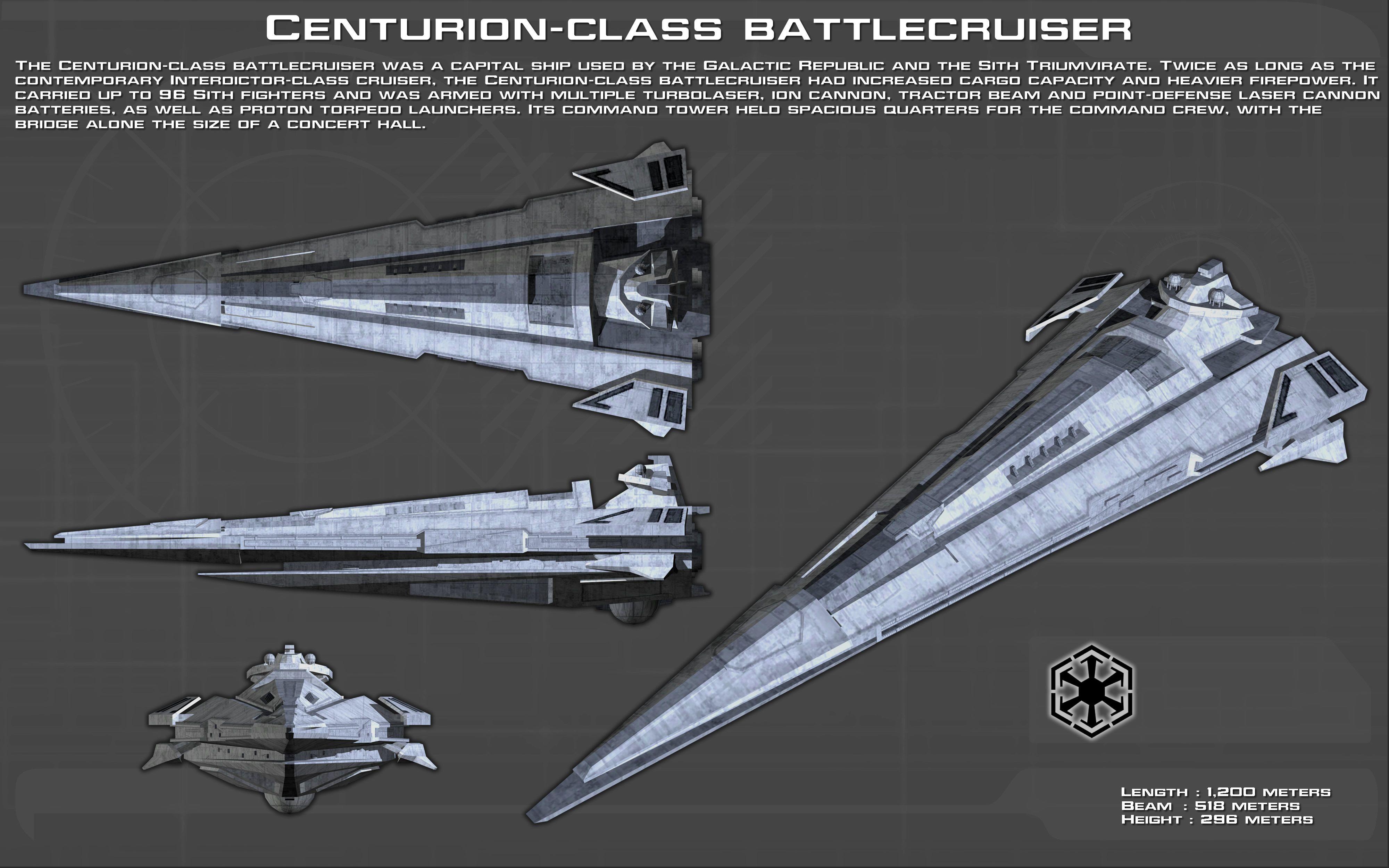Centurion-class battlecruiser ortho [New] by unusualsuspex