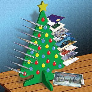 11-2228 - Christmas Tree Card Holder Woodworking Plan | Christmas ...