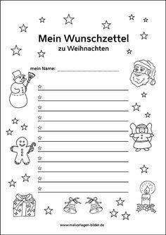Wunschzettel Zum Ausdrucken Kostenlose Vorlage Weihnachten Basteln Vorlagen Wunschliste Weihnachten Bastelvorlagen Weihnachten