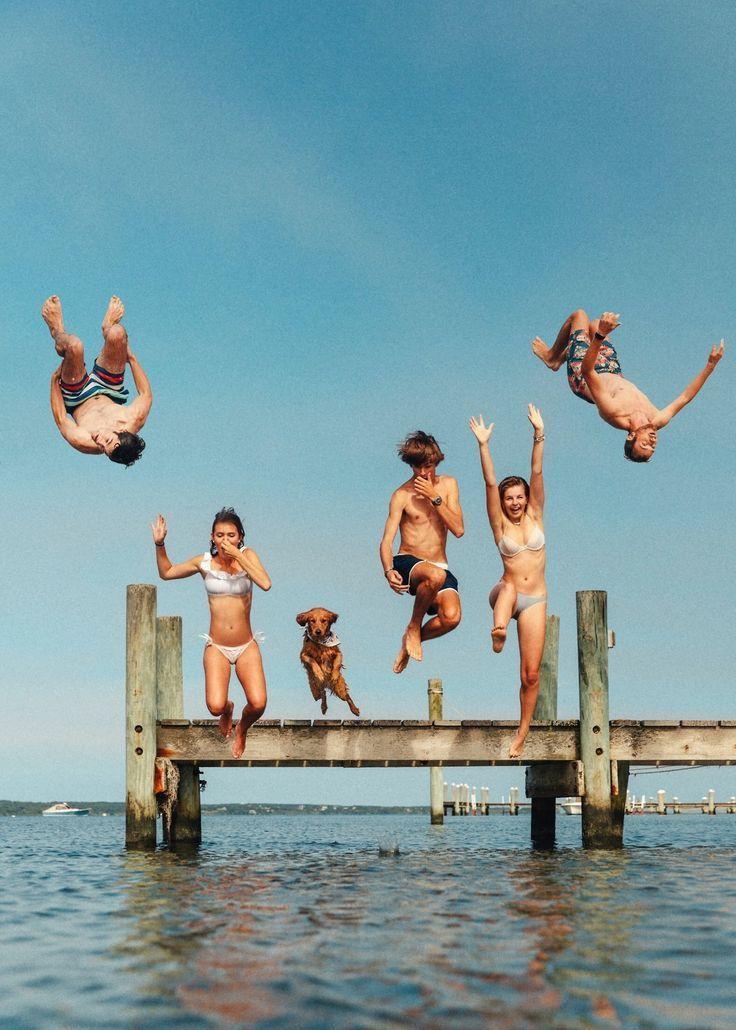 jump | summer time | vacation mood | ocean | swimming | friendship goals | adventure time | Fitz & Huxley | www.fitzandhuxley.com #childhoodfriends