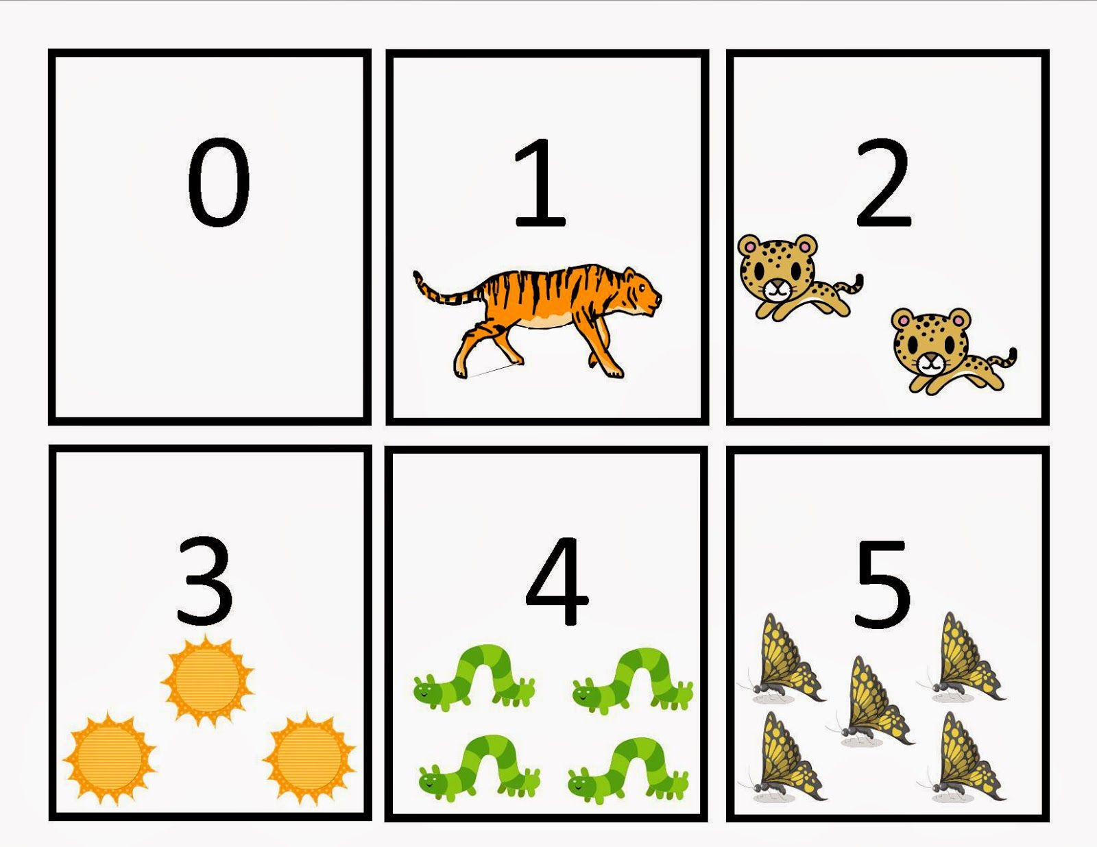 Number Flash Cards Printable 1 20
