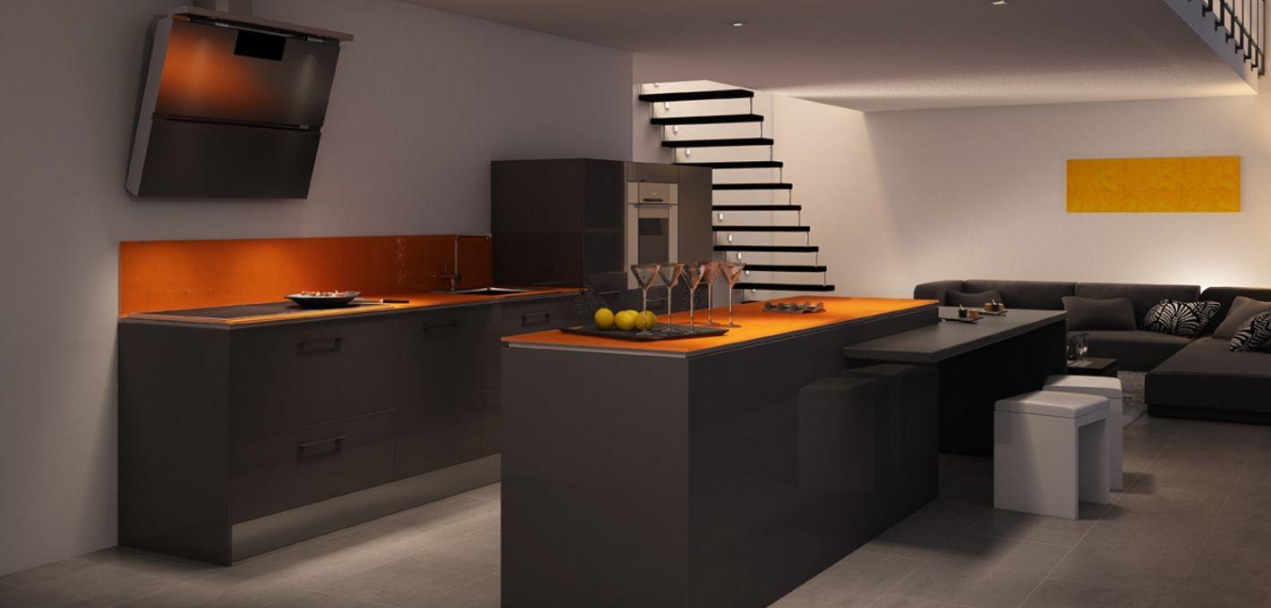 Nos Cuisines Design Moderne Bois Avec Ilot Cuisines Design