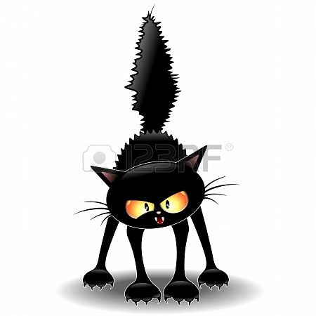 Stock Vector Black Cat Art Cats Illustration Cat Art