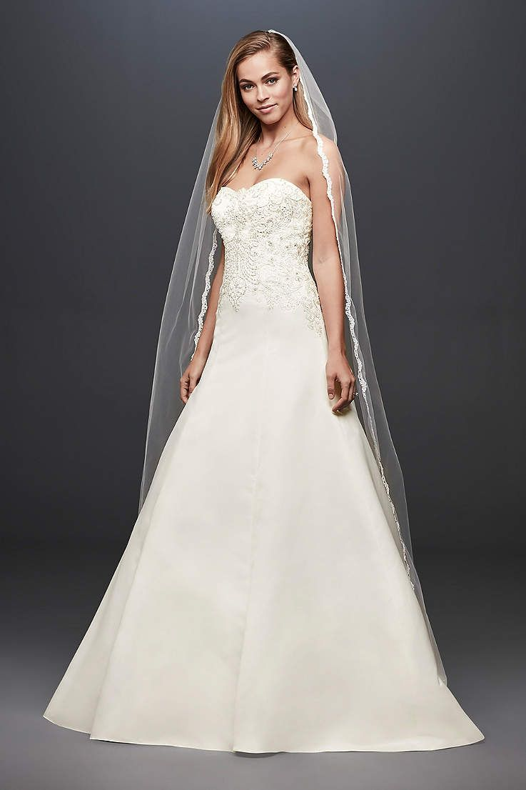 David bridal wedding dress  View Strapless Long Wedding Dress at Davidus Bridal  wedding
