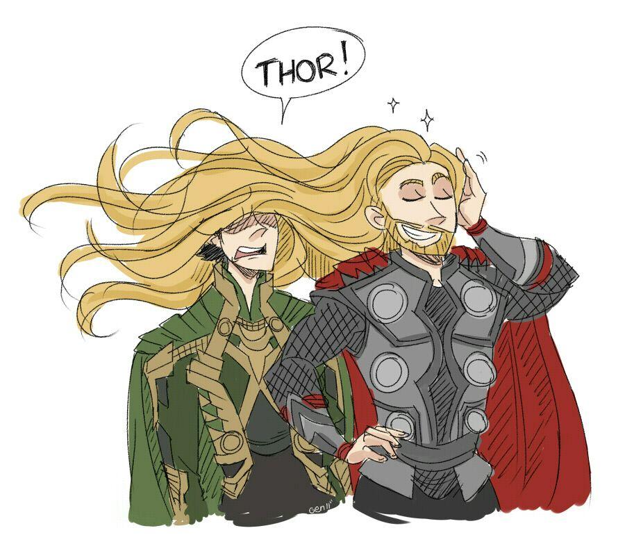 Loki: THOR CUT YOUR HAIR Thor: Never~ *swish*