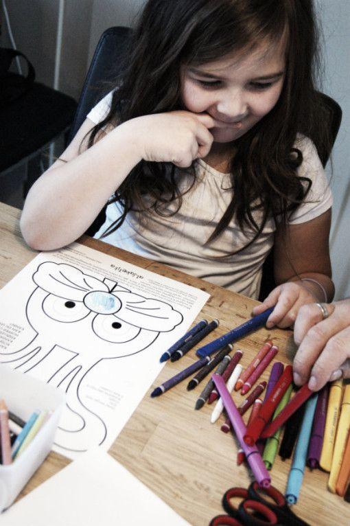 Maskelaging -Print ut selv fra Alfabetika.no | Idebank for småbarnsforeldreIdebank for småbarnsforeldre