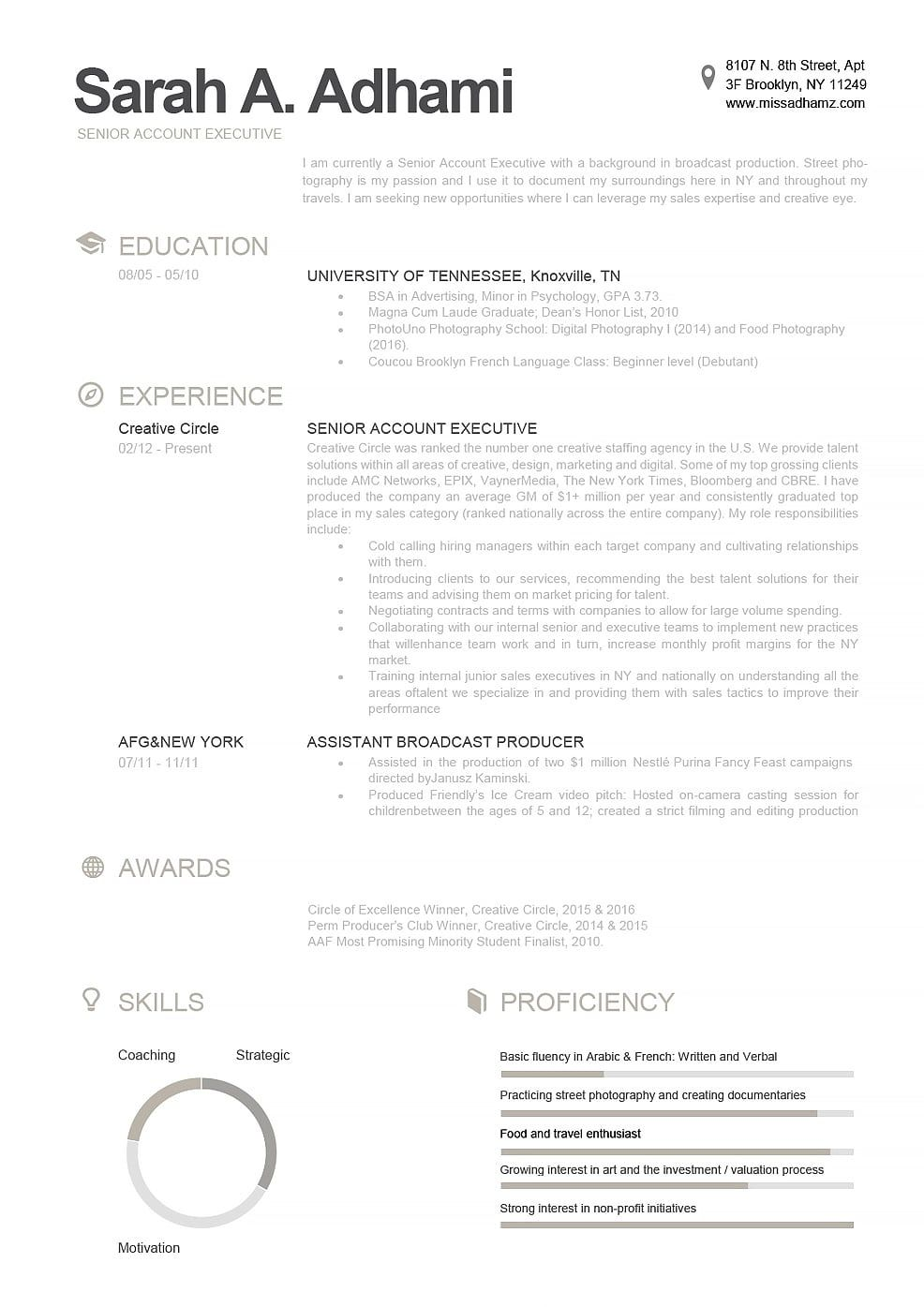 Resume Template 110790 Modern resume template, Executive