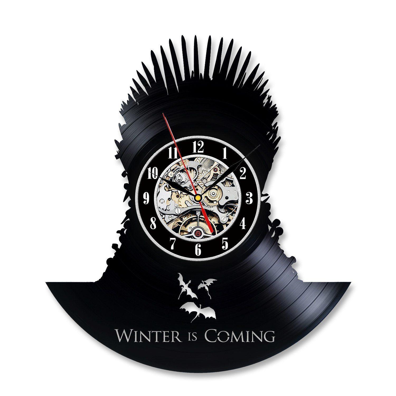 Emilia Clarke Art Retro Clock Game Of Thrones Vinyl Record
