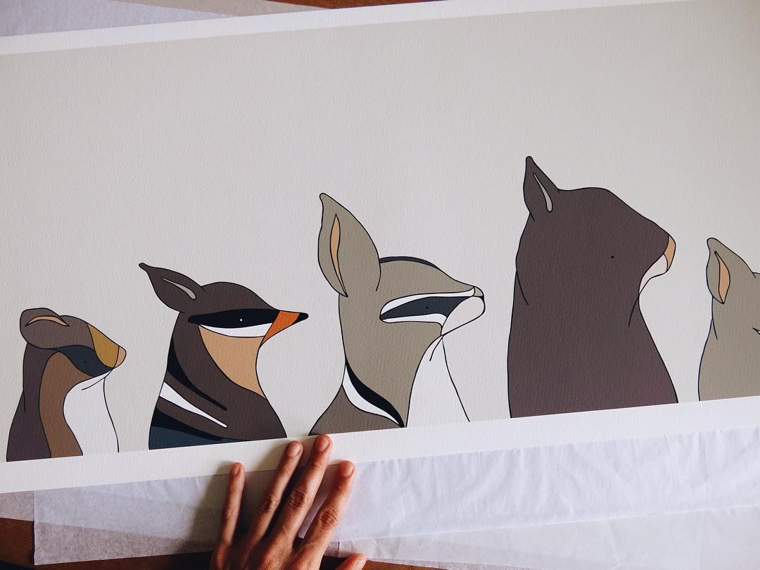 Marsupials of Australia - Eggpicnic 83 x 36cm