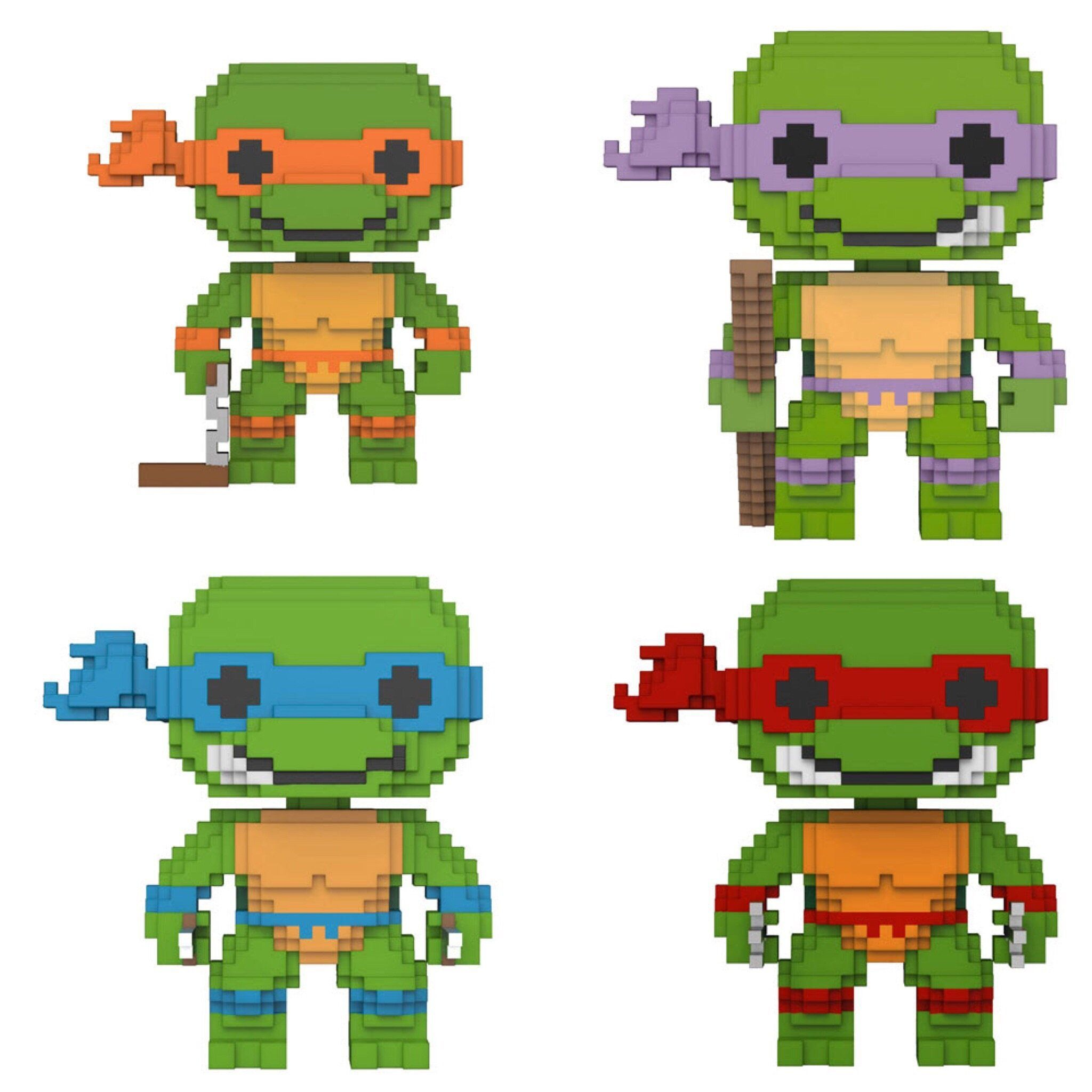 c5c29887508 Funko Pop Television 8-Big Teenage Mutant Ninja Turtles Set of 4 ...