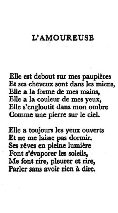 paul eluard l amoureuse