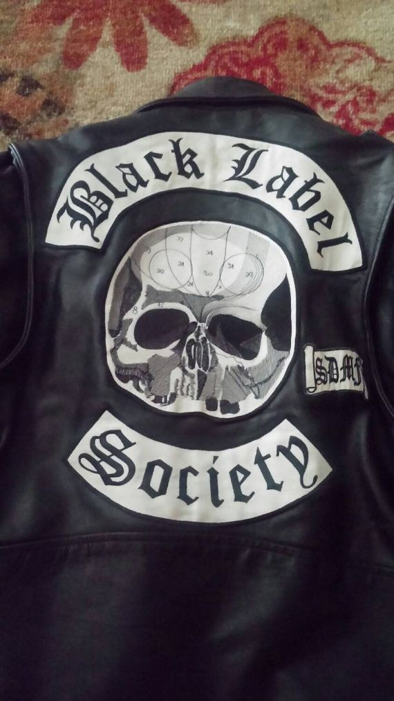 Mens Large Black Leather Black Label Society Jacket Black Label Society Black Label Large Black