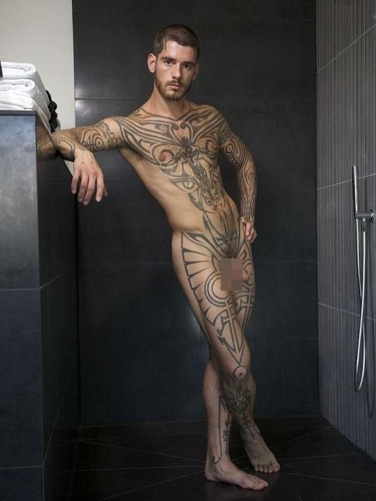 stars porn Tattooed male gay