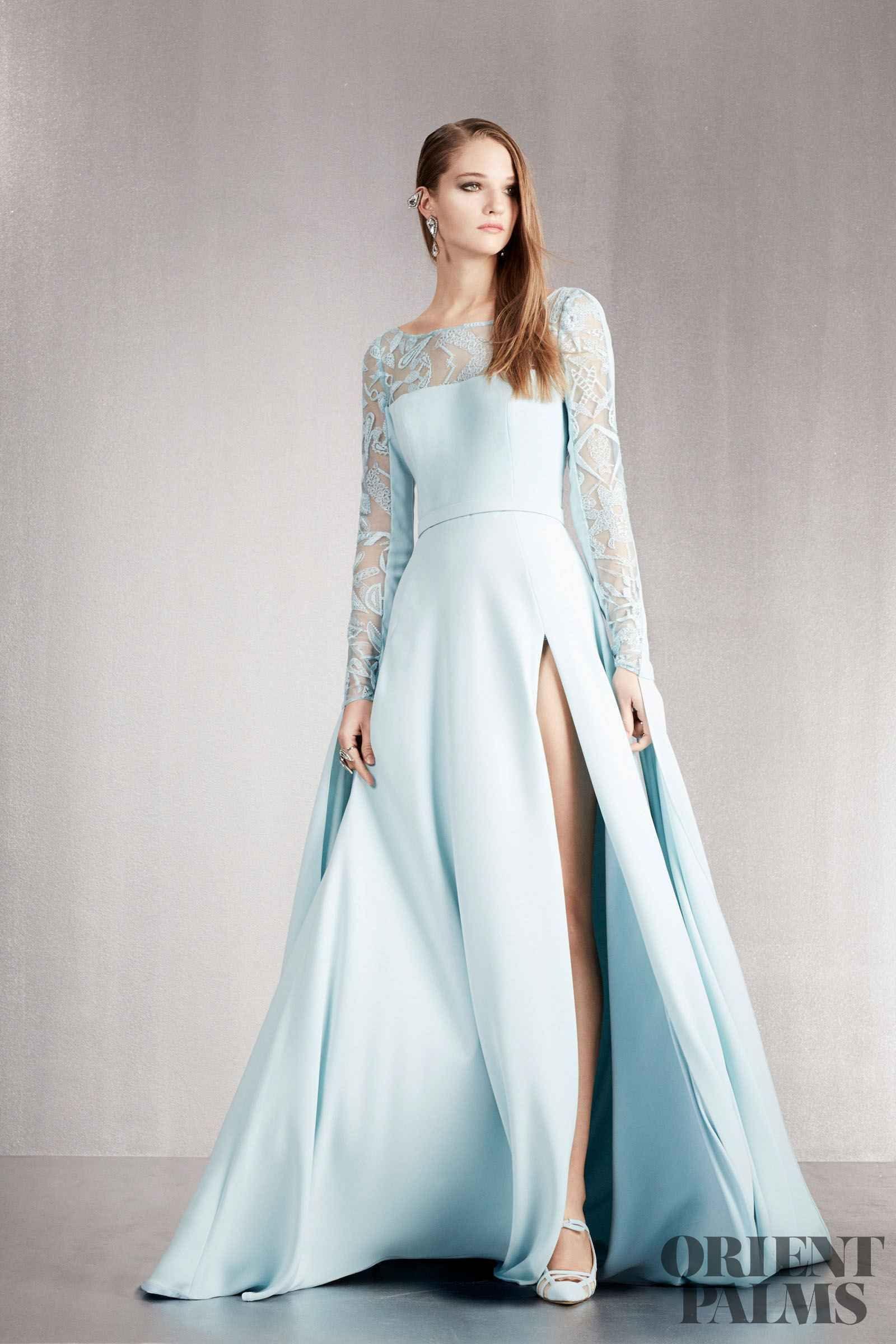f51ceb005d403 Georges Hobeika İlkbahar-Yaz 2018 - Hazır giyim | Heavenly Blue ...