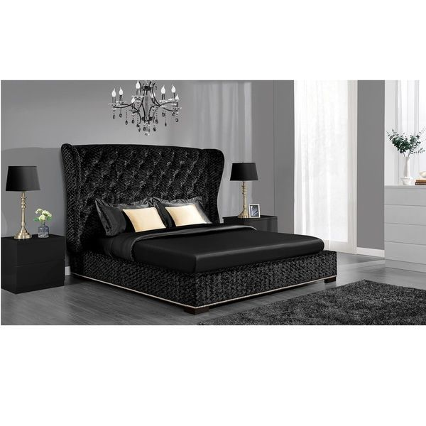 DHP Luxe Premium Velvet Upholstered Bed   Overstock  Shopping   Great Deals  on DHP Beds. Black Tufted Premium Velvet Upholstered Bed   BUY NOW   http   mkt