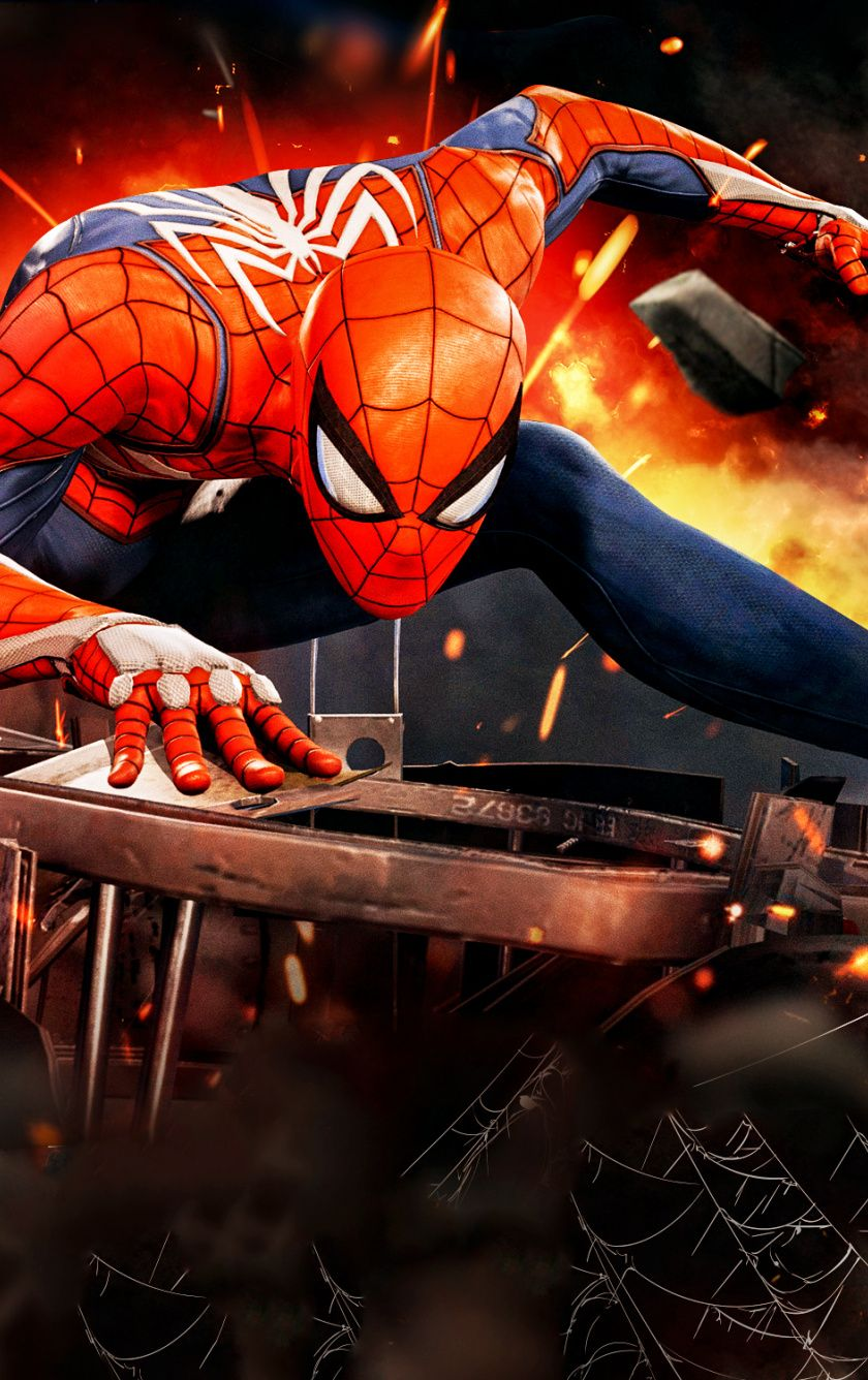 Downaload Video game, PS4, spiderman, 2018 wallpaper for