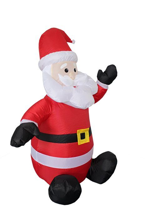 4-foot Christmas Inflatable Santa Claus Blow-Up Yard Decoration - christmas blow up decorations