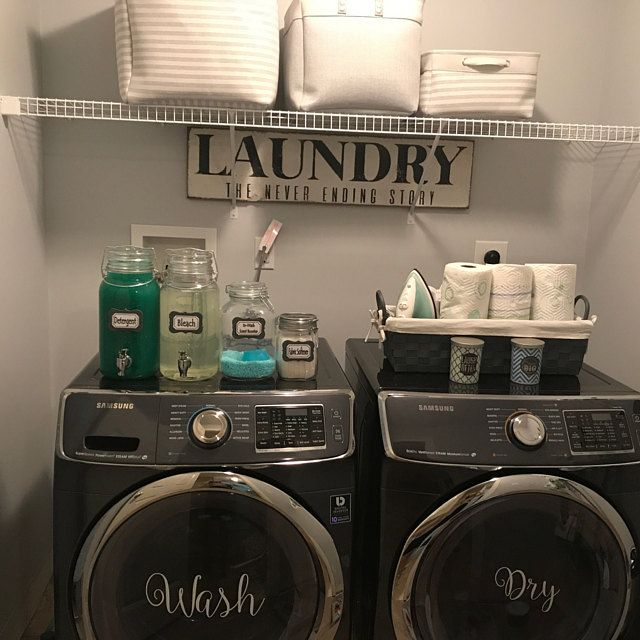 Wash & Dry Decals for Washers and Dryers, Laundry