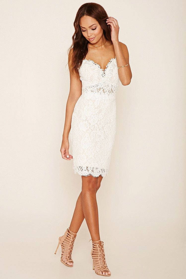 Forever 21 crochet lace cami dress