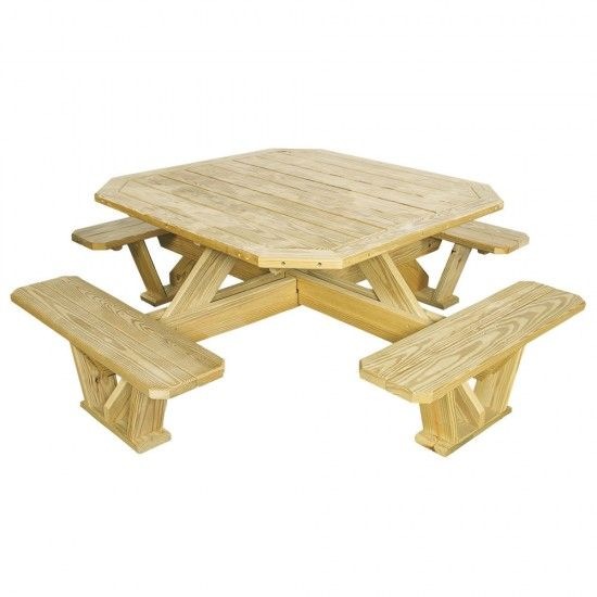 Amish Pine Square Picnic Table Pallet Furniture Outdoor Picnic