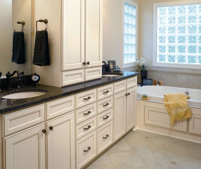 Aristokraft Durham Bathroom Cabinet Door Style Purstyle Laminate Wood With Toasted Antique Finish