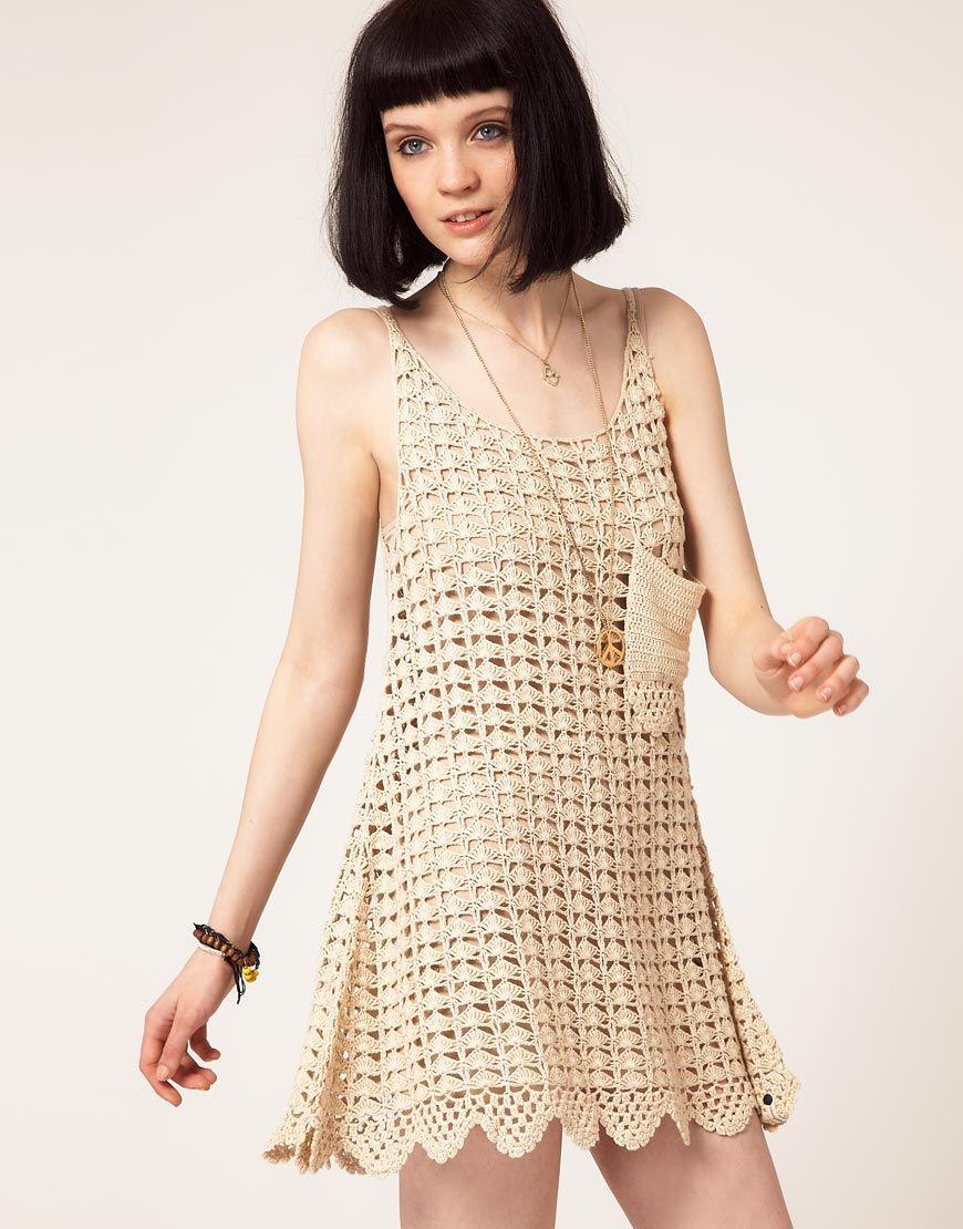 Платья сарафаны вязанные крючком со схемами фото 808