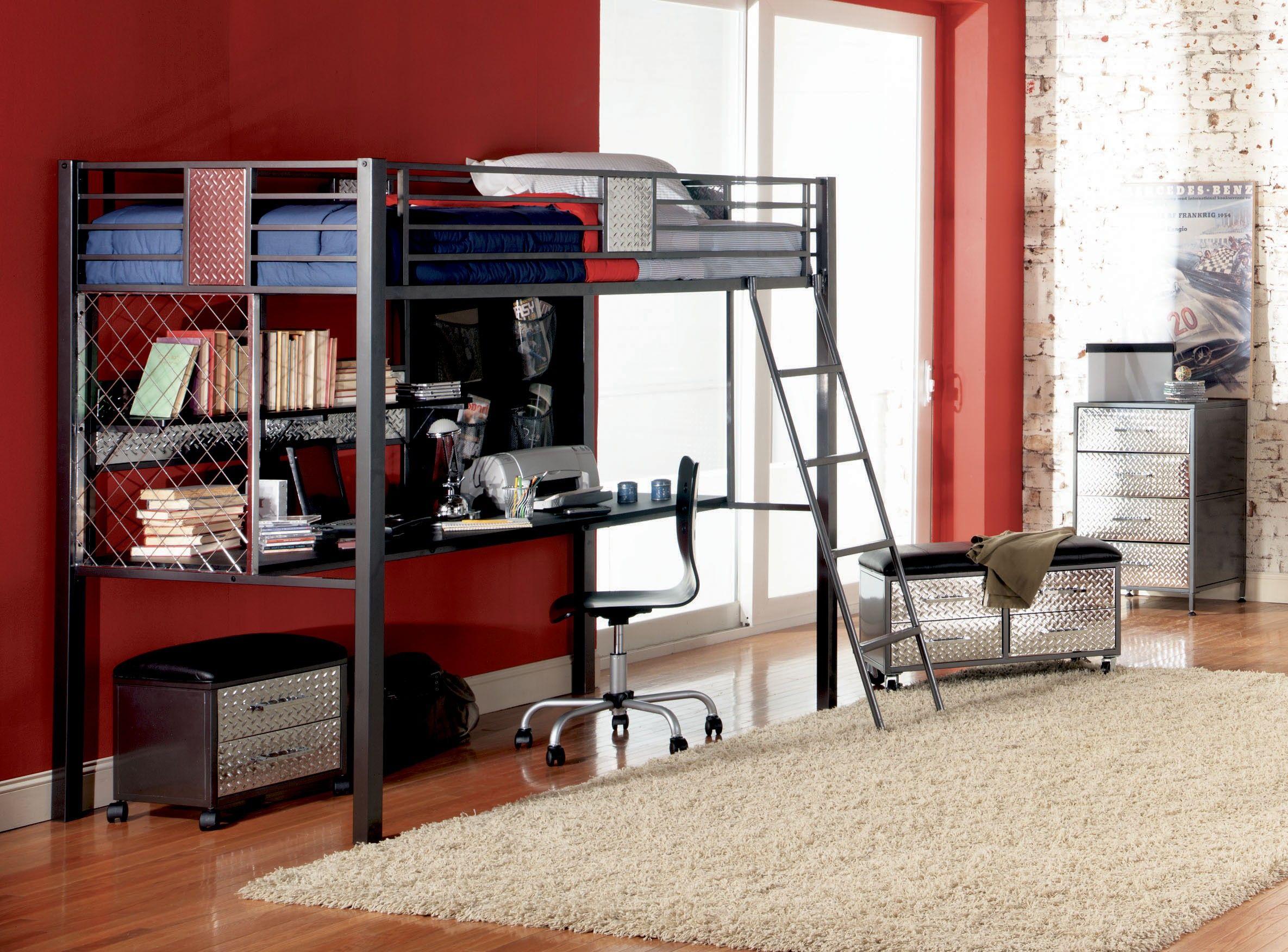 Powell Monster Bedroom Twin Study Loft Bunk Bed