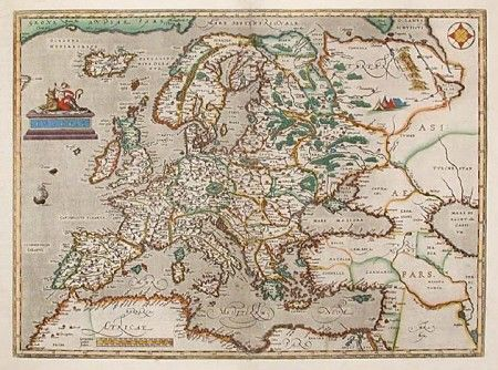 Map Of Europe From The Late 16th Century Maps Pinterest
