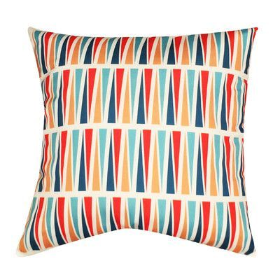 Loom and Mill Geometric Decorative Throw Pillow Color: Light Blue