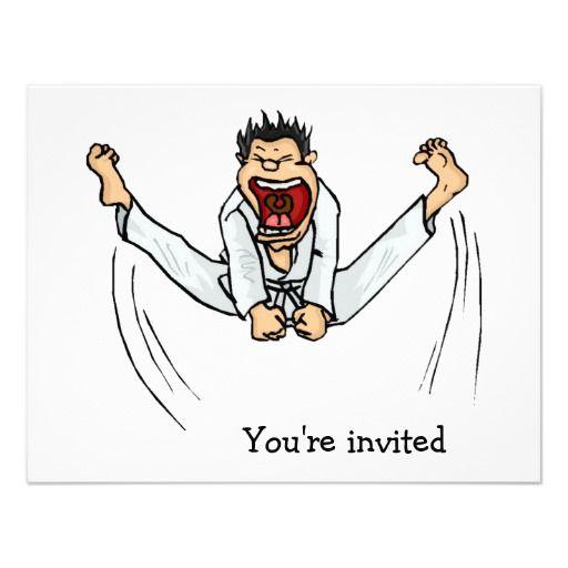 Martial Arts Kick Party Invitations $1.80 per card