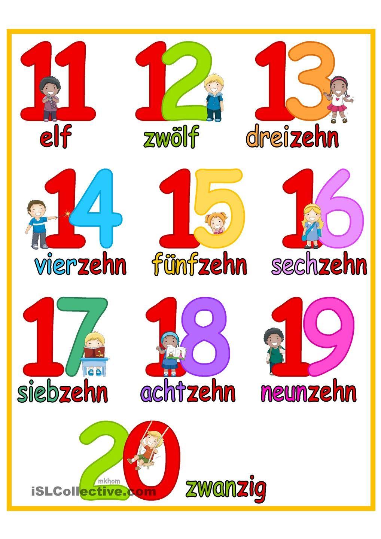 Lernposter Zahlen bis 20 _ Kinder | Schule | Pinterest | Zahlen ...