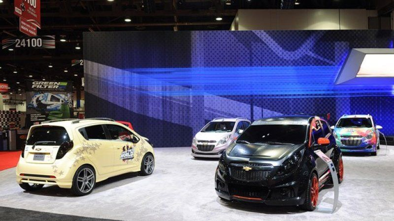 Custom Chevy Spark Models Light Up In Vegas