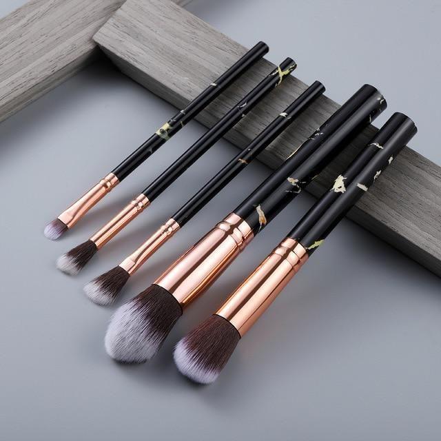 15-teiliges Make-up-Pinsel-Set – 5-teiliges Schwarz