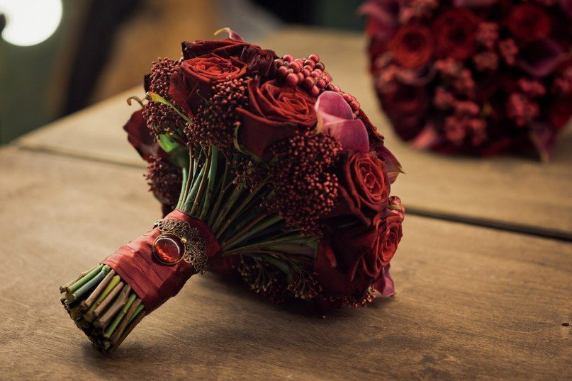 Птичка украшение для букета невесты, свадебный букет оранжевый невесты фото