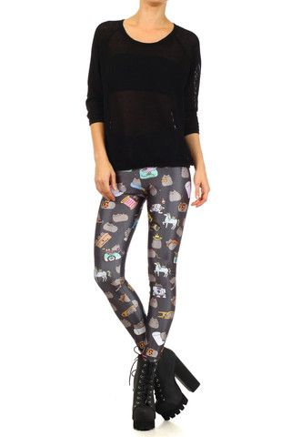 6d353012a058b Pusheen Legz - POPRAGEOUS (M) | Leggings And Other Awesome Shit I ...