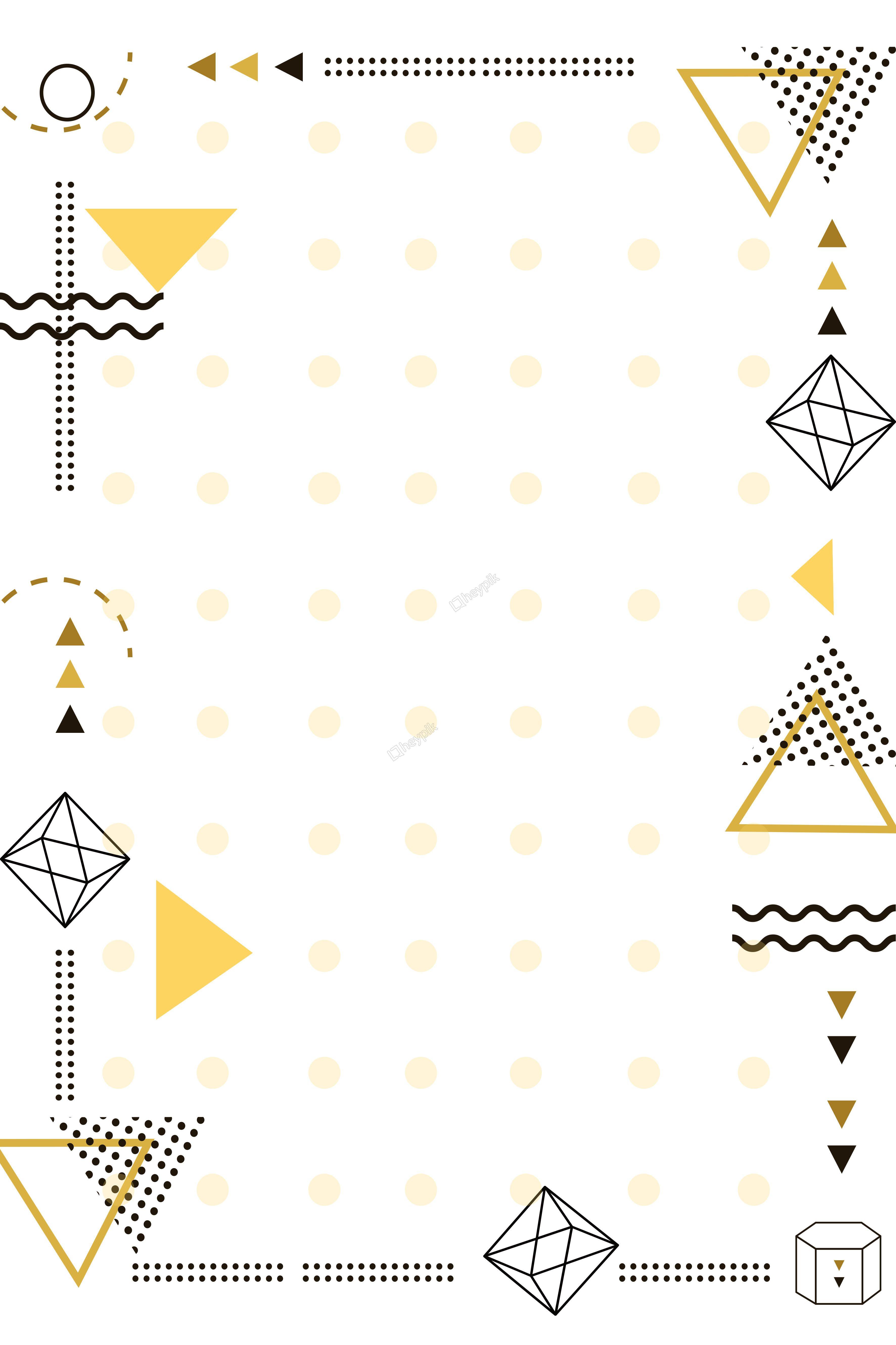 簡約的幾何邊框海報背景 การออกแบบโปสเตอร โปสเตอร กราฟ กด ไซน